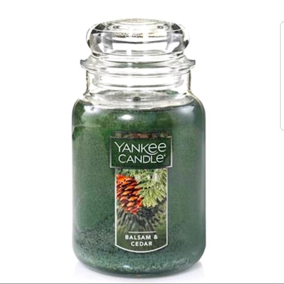 Yankee Candle Balsm & Cedar Large Jar Candle NWT